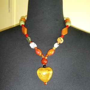 Sterling Silver Natural stone necklace